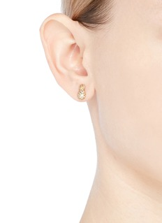 SYDNEY EVAN Diamond 14k yellow gold pineapple single stud earring
