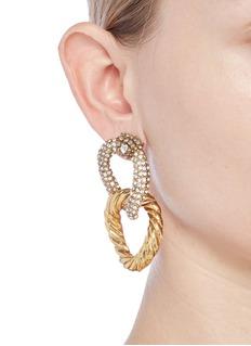 Erickson Beamon Swarovski crystal interlocking hoop earrings