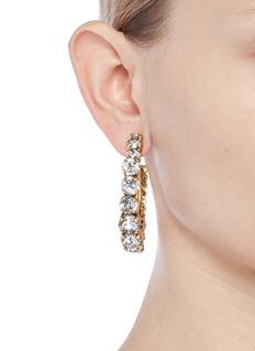 Erickson Beamon Swarovski crystal hoop earrings