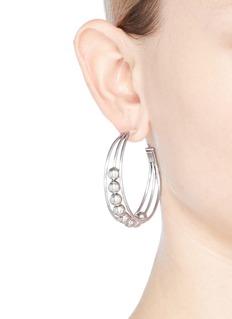 Philippe Audibert 'Anton' bead cutout hoop earrings