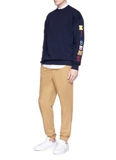 Maison Kitsuné Logo patch sweatshirt