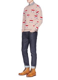 Maison KitsunéStar jacquard merino wool-cashmere sweater