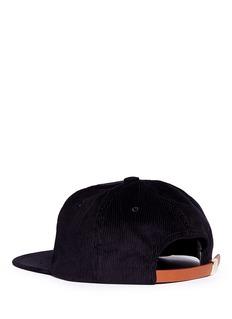 Maison Kitsuné 'Parisien' embroidered corduroy baseball cap