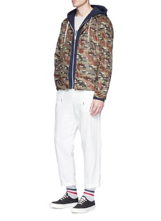 Maison Kitsuné Camouflage fox print windbreaker jacket