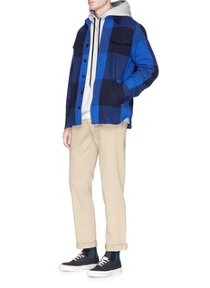 Maison Kitsuné Check plaid brushed twill shirt jacket