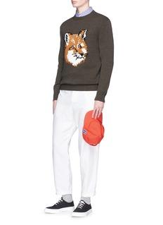 Maison KitsunéFox intarsia lambswool sweater
