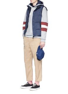 Maison Kitsuné Towelling stripe hoodie