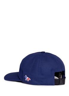 Maison Kitsuné Fox appliqué baseball cap