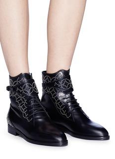 Alaïa Geometric studded lace-up leather boots
