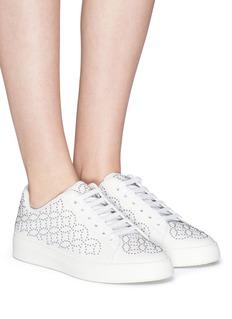 Alaïa Geometric stud leather sneakers