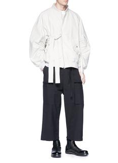 Damir Doma 'Primo' drawstring cropped wide leg pants
