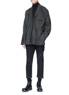 Damir Doma Stripe tweed asymmetric coat