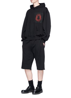 Damir Doma 'Welde' circle patch oversized hoodie