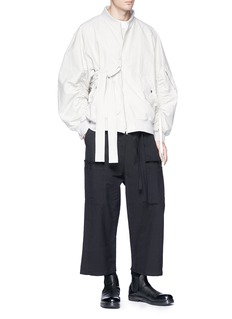 Damir Doma 'Jerrit' ruched cocoon sleeve canvas bomber jacket