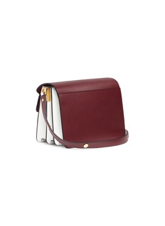 Marni 'Trunk' colourblock saffiano leather shoulder bag