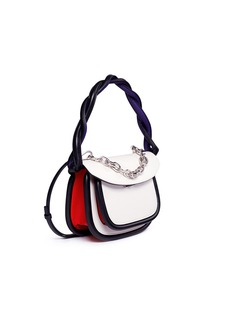 Marni 'Titan' twisted strap colourblock leather shoulder bag