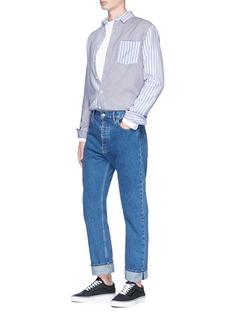 Topman Mixed stripe woven cotton shirt