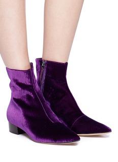 Ellery Rib velvet ankle boots