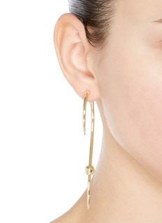 Michelle Campbell 'Milky Way' 14k gold plated wavy bar earrings