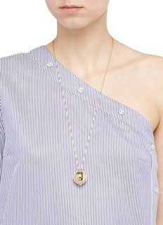 Michelle Campbell 'Gold Orbit' 14k gold plated sphere locket necklace