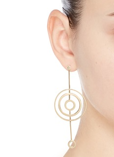 Michelle Campbell 'Solar System' 14k gold plated cutout bar drop earrings