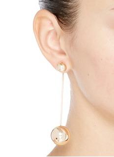 Michelle Campbell 'Moon Orbit' sphere bar drop earrings