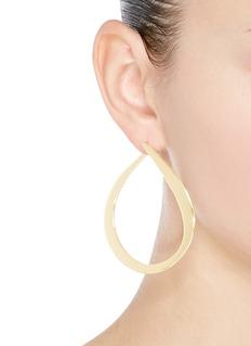 Michelle Campbell 'Orbit Hoop' 14k gold plated teardrop earrings