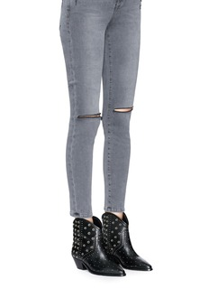 Isabel Marant 'Domya' eyelet studded leather ankle boots