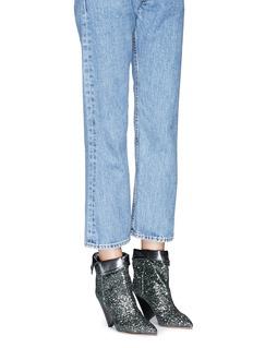 Isabel Marant 'Luliana' foldover cuff glitter booties