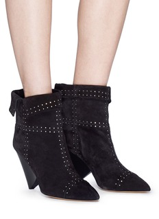 Isabel Marant 'Lizynn' stud suede boots