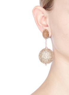 Oscar de la RentaBeaded strass pavé sphere drop clip earrings