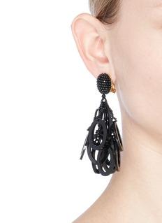 Oscar de la RentaBeaded tiered hoop earrings