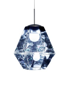 Tom Dixon Cut tall pendant light – Smoke