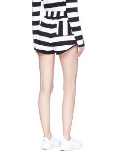 THE UPSIDE Vollet条纹纯棉短裤