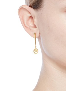 Ruifier 'Super Happy' 18k yellow gold vermeil earrings