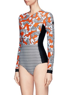 The Upside 'Sea of Koi' print paddle suit