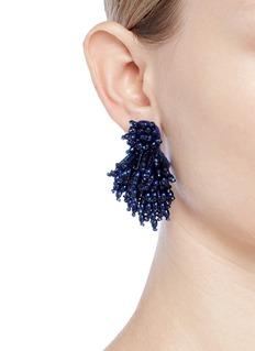 Mignonne Gavigan New York 'Burst' glass bead cluster fringe earrings