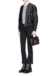 3.1 Phillip Lim 'Alix' pierced paperclip flap mini leather satchel