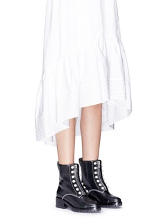 3.1 Phillip Lim 'Hayett' faux pearl leather mid calf boots