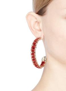 Rosantica 'Leva' velvet wire hoop earrings