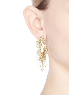 Rosantica 'Pascoli' faux pearl cluster fringe hoop earrings
