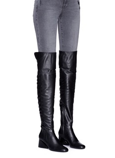 Mercedes Castillo 'Aymeline' foldover leather knee high boots