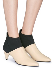 Mercedes Castillo 'Addie' neoprene panel colourblock leather booties