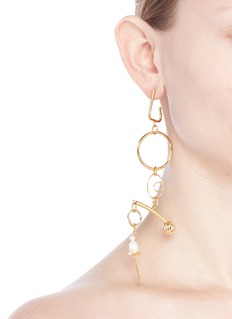 MOUNSER 'Micro Kinesis' faux pearl 14k gold-plated single earring