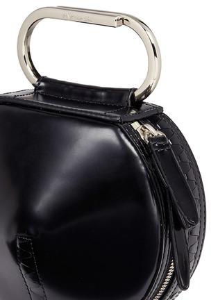 - 3.1 Phillip Lim - 'Alix' paperclip handle leather circle clutch