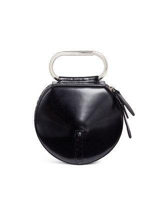 Main View - Click To Enlarge - 3.1 Phillip Lim - 'Alix' paperclip handle leather circle clutch