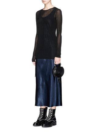 Figure View - Click To Enlarge - 3.1 Phillip Lim - 'Alix' paperclip handle leather circle clutch