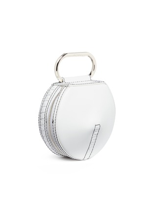 Detail View - Click To Enlarge - 3.1 Phillip Lim - 'Alix' paperclip handle leather circle clutch