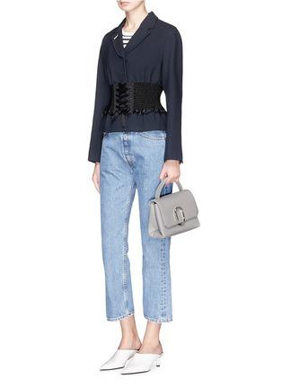 Figure View - Click To Enlarge - 3.1 Phillip Lim - 'Alix' paperclip flap mini leather satchel