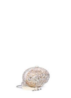Judith Leiber 'Egg Ormolu' crystal pavé minaudière
